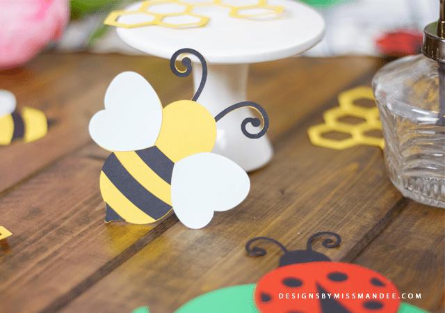 Die Cut Ladybugs and Bees