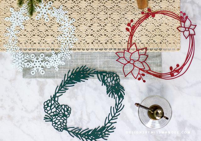 Die Cut Winter Wreaths