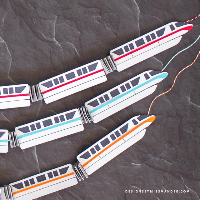 Die Cut Disney Monorail