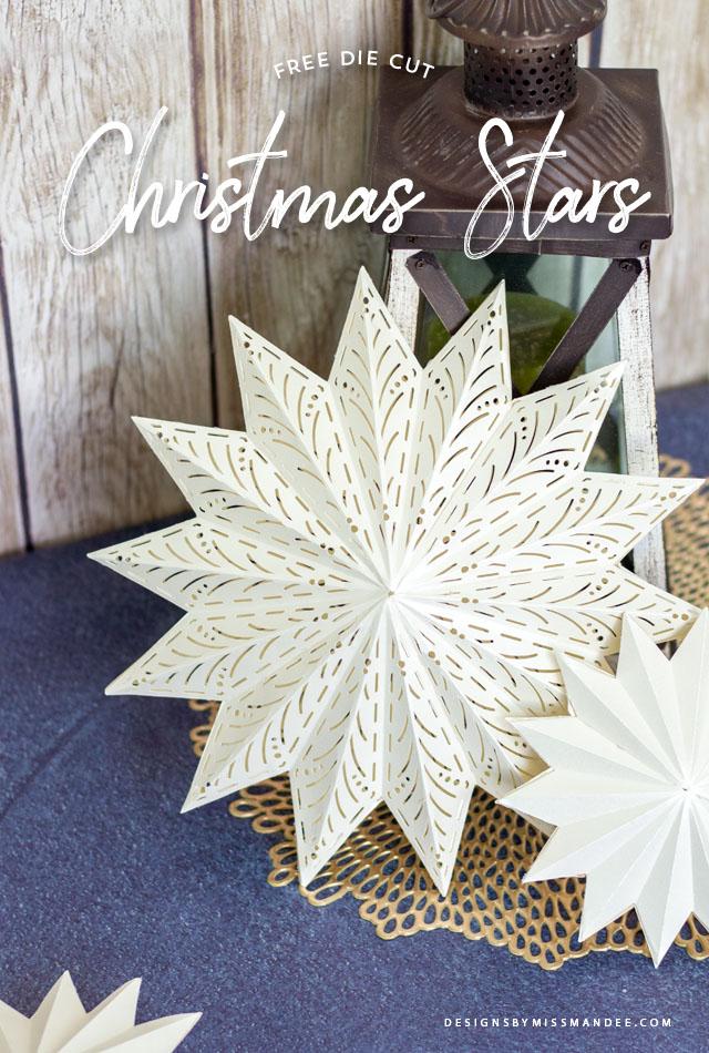 Die Cut Christmas Stars