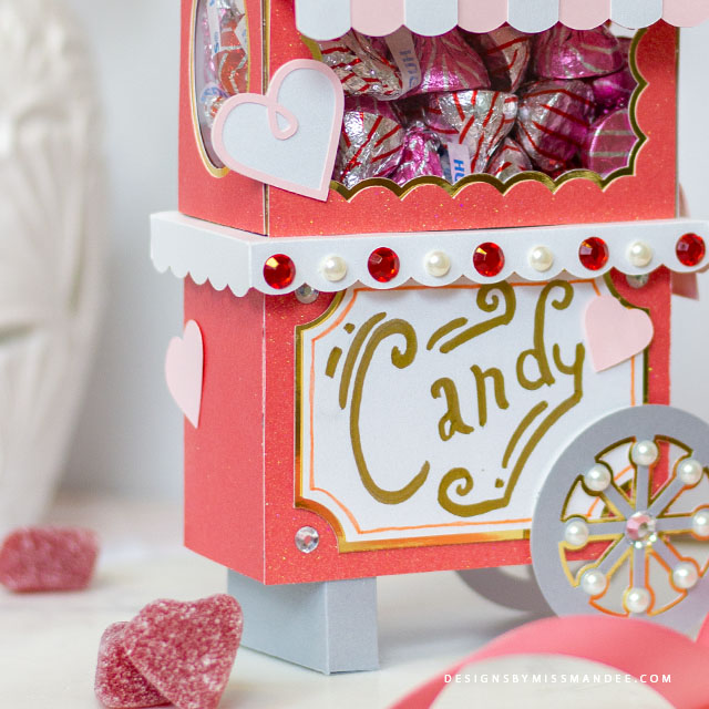 3D Valentine Candy Cart
