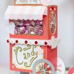 3D Valentine Candy Cart