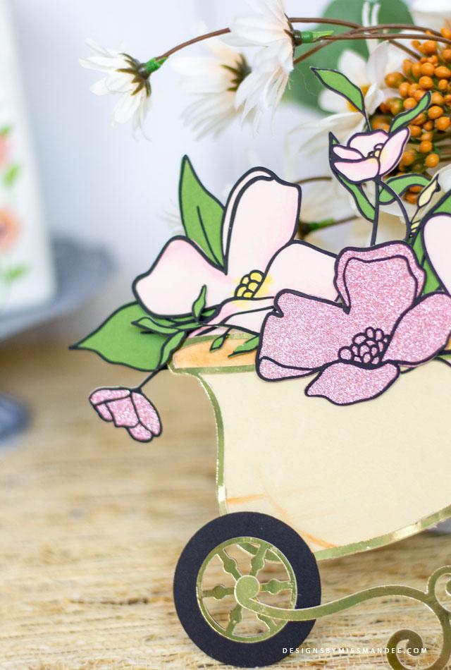 Die Cut Spring Wheelbarrow