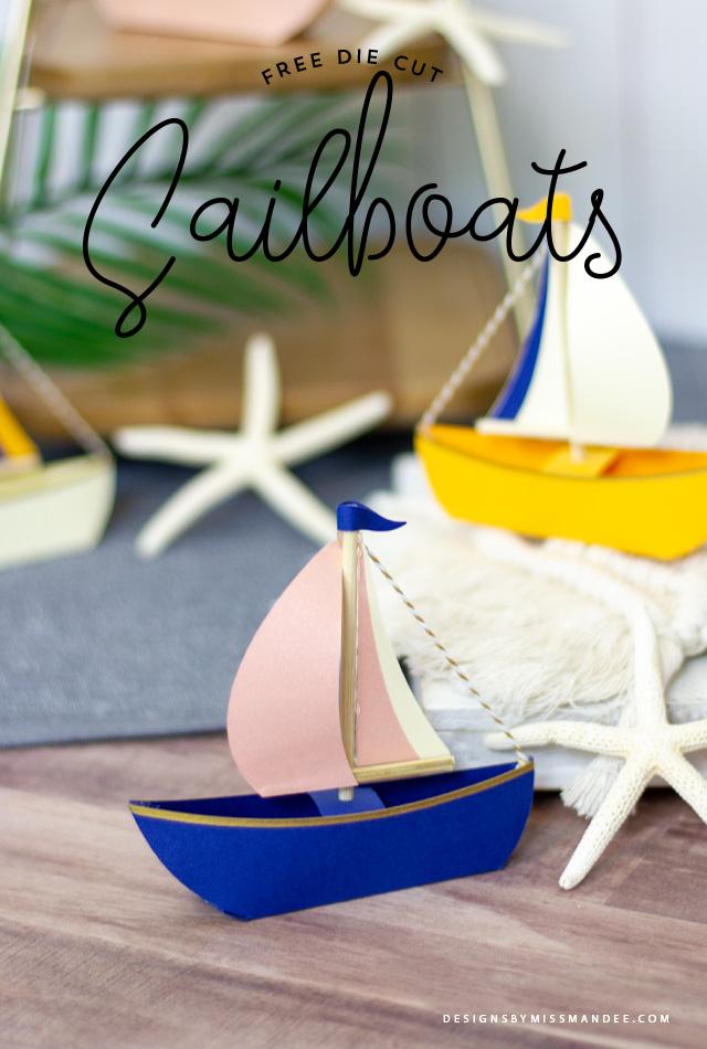 Die Cut Sailboats