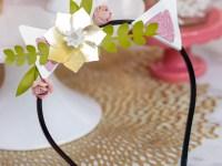 Cat Ear Flower Headband