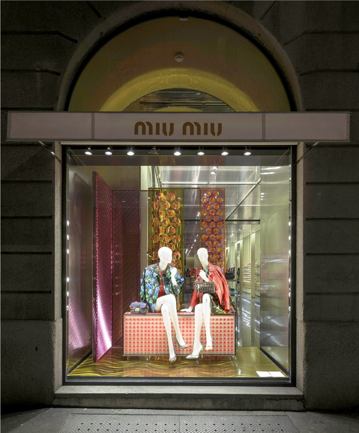 Miu Miu Delivers Joyful Holiday 2013 Windows