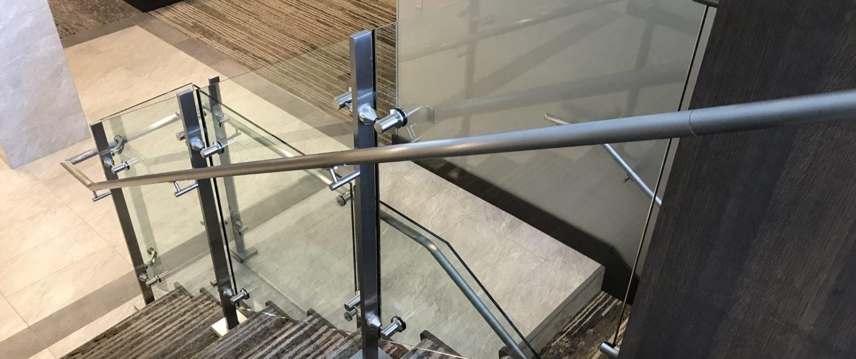 Glass Railing Installation Se Michigan Designs In Glass | Glass Stair Railing Systems | Iron | Custom | Contemporary | Baluster | Design