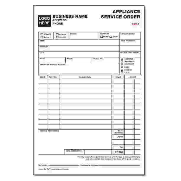 Small Engine Repair Invoice Template
