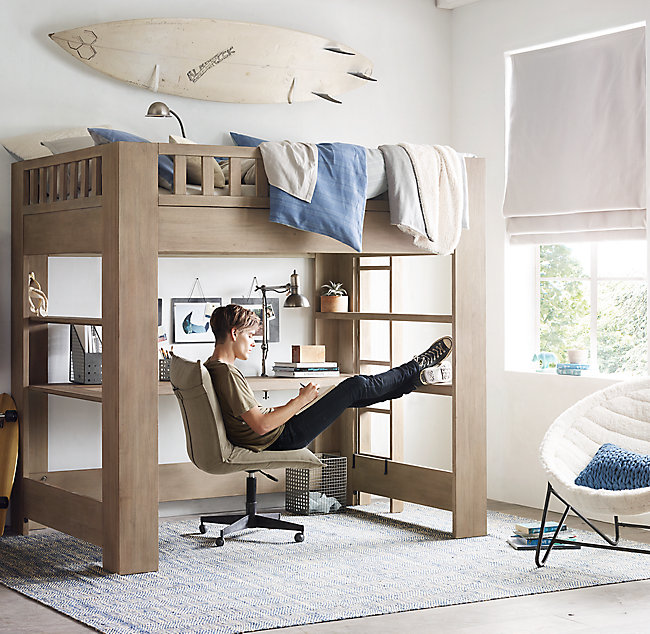 boy bedroom with loft