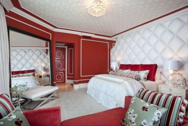 red and white master bedroom ideas