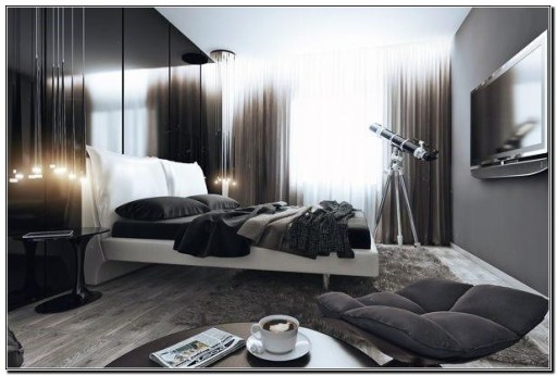Masculine Bedrooms Apartment Decorating Interior Design for Men 05