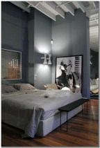 Masculine Bedrooms Apartment Decorating Interior Design for Men 10