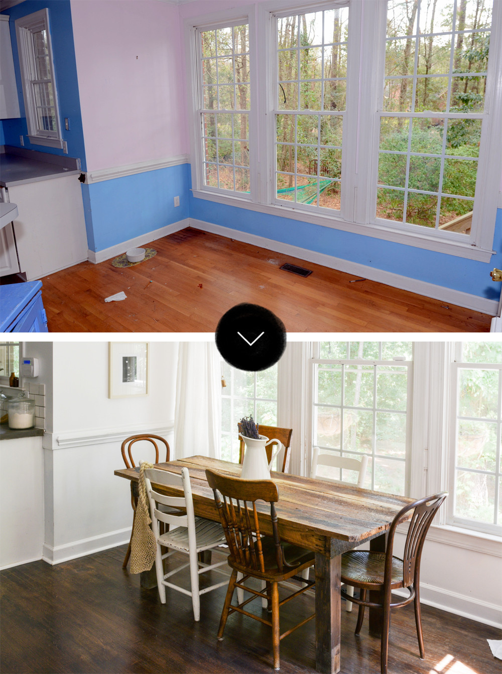 Before Amp After A Reclaimed Traditional Brick Foreclosure DesignSponge