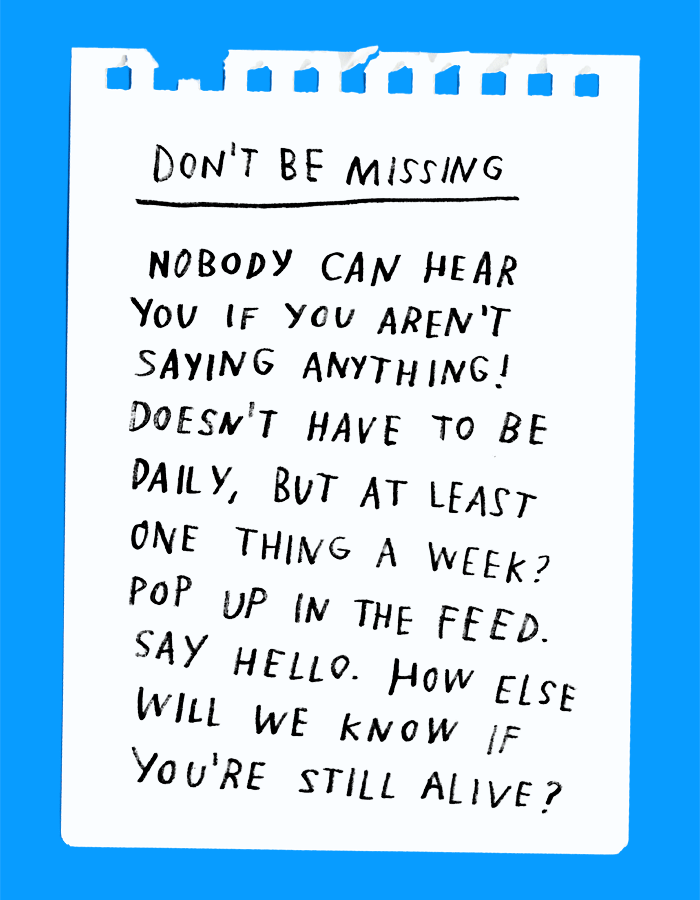 DON'T: Be Missing