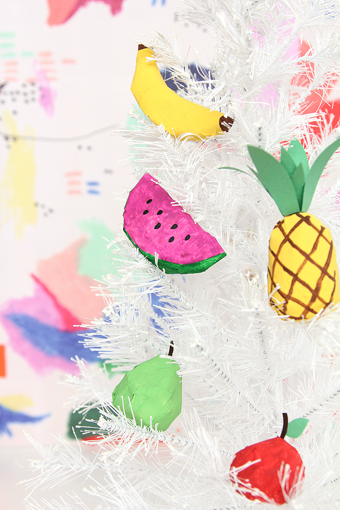 Design Sponge's light, bright papier mâché fruits