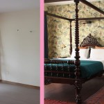 Before After An Empty Shell Is Elegantly Dressed In Indian Influences Design Sponge
