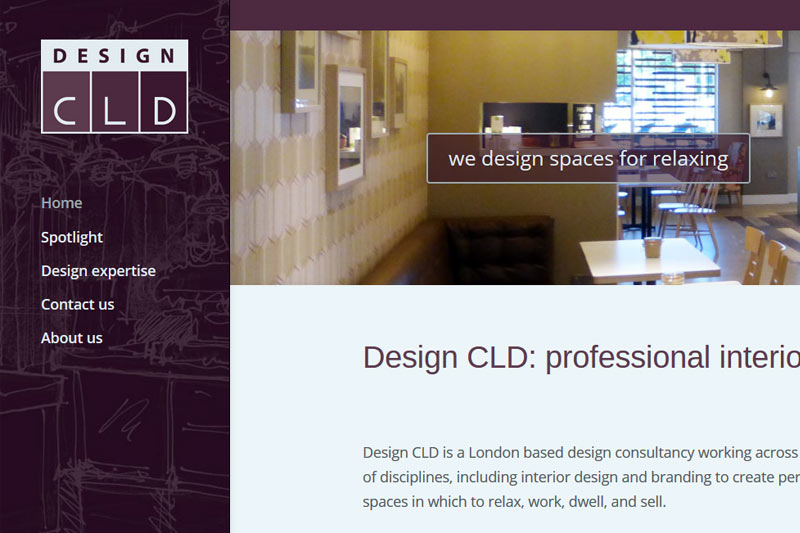 DesignCLD logo and website