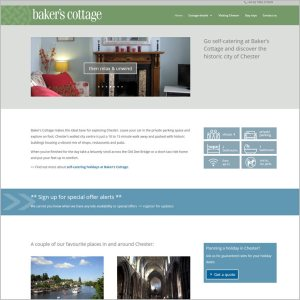 Screenshot from the Baker's Cottage website