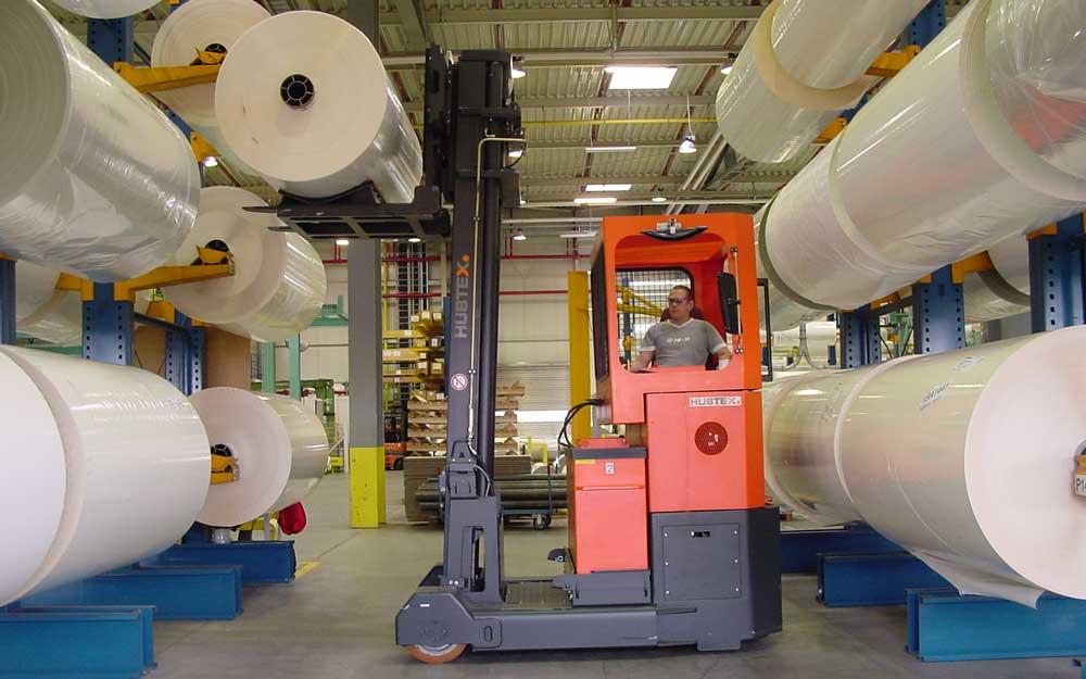 ... Vertical Paper Storage; Pressure Sensitive materials & Sideloaders for Roll Handling - Design Storage u0026 Handling