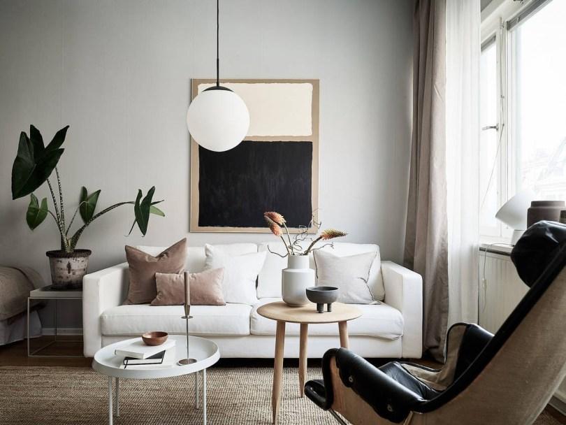 Earthy tone Scandinavian interior