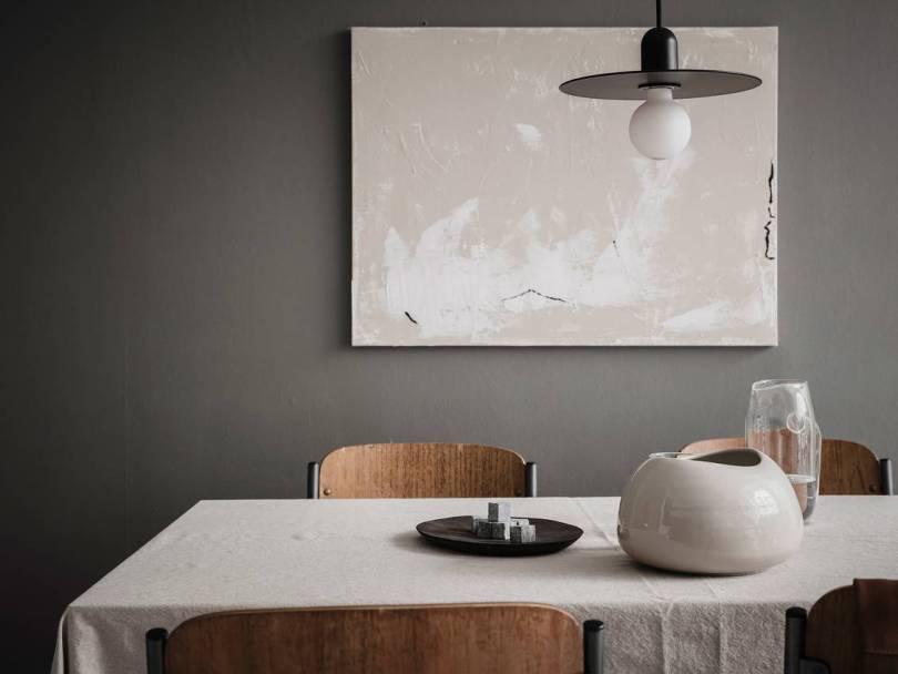 Scandinavian dark dining room
