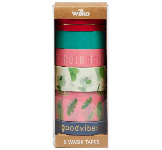 Wilko Discovery Washi Tape Set