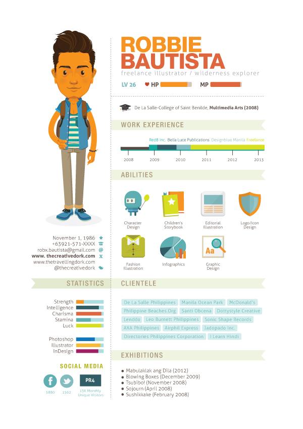 lebenslauf als infografik kreative beispiele designtrax
