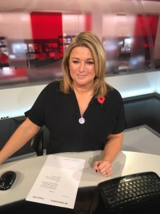 Imogen Sellers from BBC Bristol News wearing Design Vaults necklace