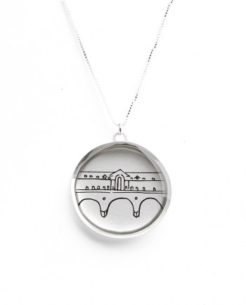pulteney bridge sterling silver necklace