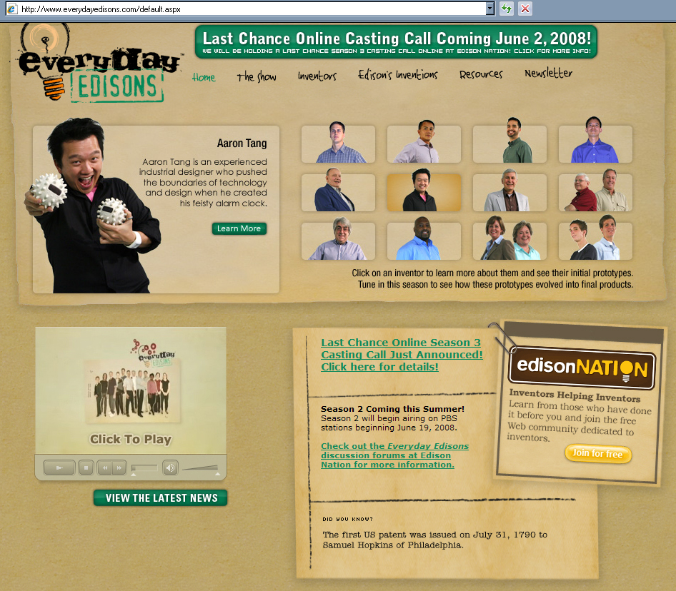 PBS tv show everyday edisons aaron tang clock