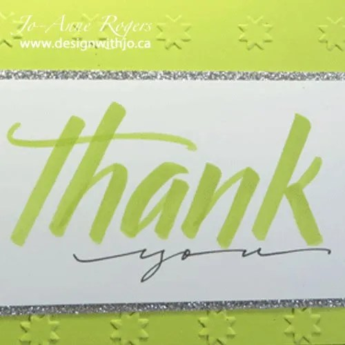 brush letter handmade cards with Stampin' Up! markers