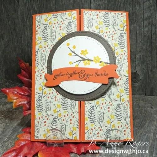 patterned paper gatefold fall greetings