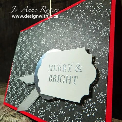 quick and easy patterned paper Christmas card