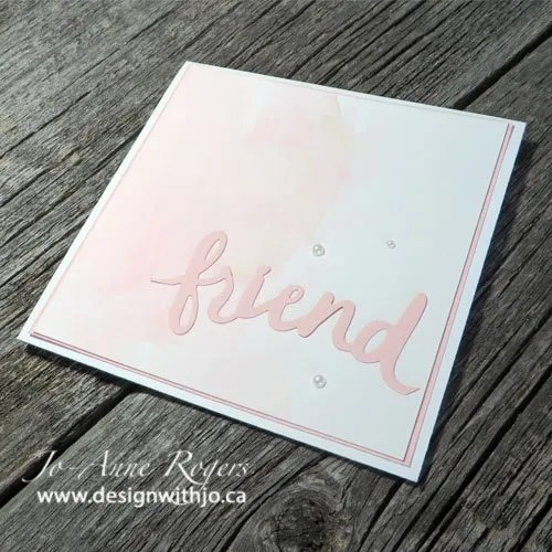 Simple DIY Card Made with Paper Scraps