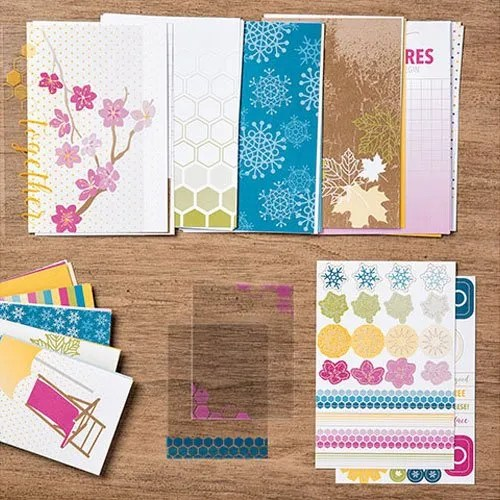 use scrapbooking supplies for quick cards
