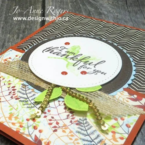 how to combine colour with patterned paper
