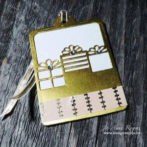 DIY white gold foil Christmas gift tags