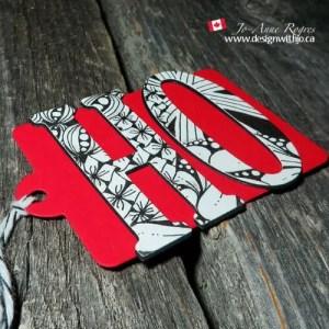 zentangle holiday gift tags