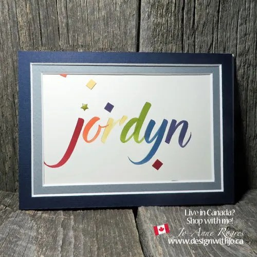 DIY framed names brush marker lettering