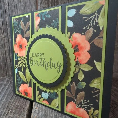 Stampin Up Whole Lot of Lovely three panel card