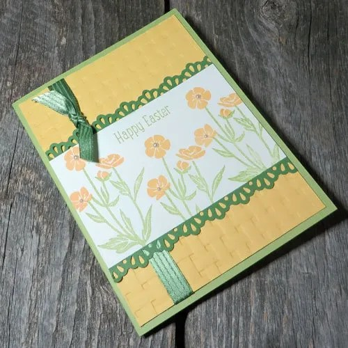 Stampin Up Basket Weave Embossing Folder Tips