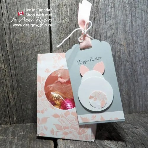 punch a cute easter bunny gift tag
