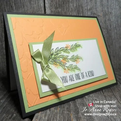 Stamping Ink Watercolour Card with Stampin Up Lovely Wishes