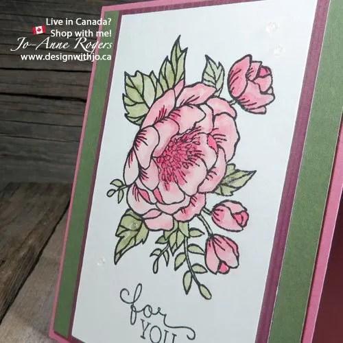 make mom an Easy Handmade Watercolour Flowers Card