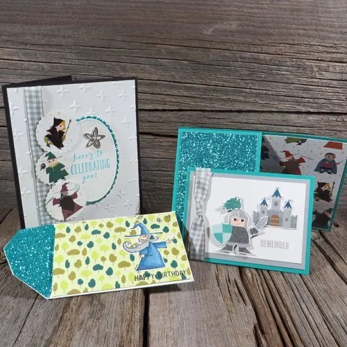 fun card swaps from my team stamping party