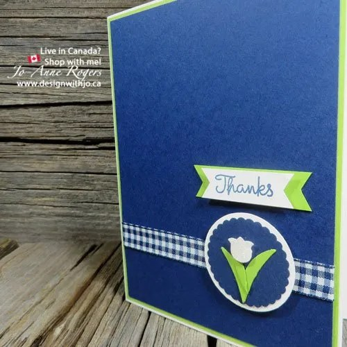 Simple Varied Vases STampin Up Thank You Card