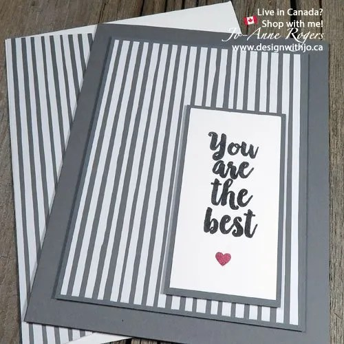 pack a punch with a monochromatic colour scheme card