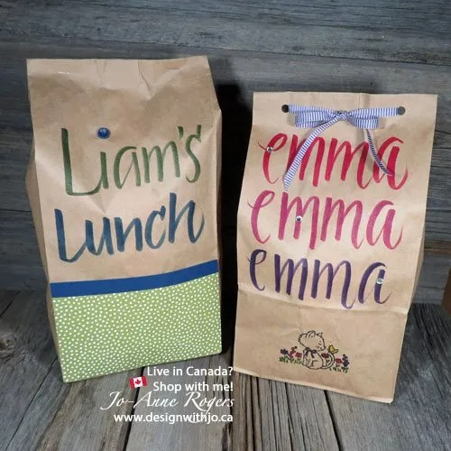 Lettering Your Kids Lunch Bags for School