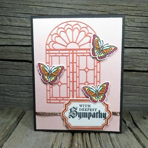 Cardmaking with the Stampin Up Stained Glass Thinlits