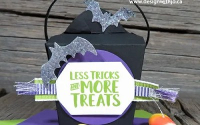 Handmade Candy Corn Countdown Mini Take Out Boxes for Halloween
